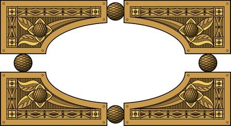 carve: Marco el�ptico de madera