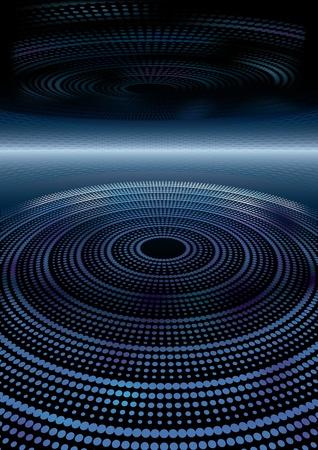 circulos concentricos: Fondo futurista