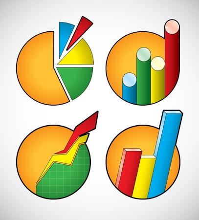 flujo de datos: Conjunto de iconos de diagrama de negocio Vectores