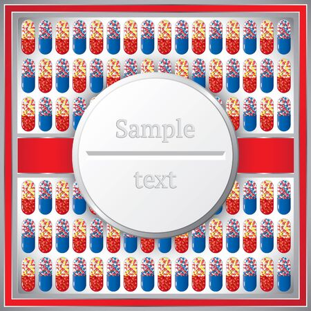 Medical frame with pills Stock Vector - 10098559
