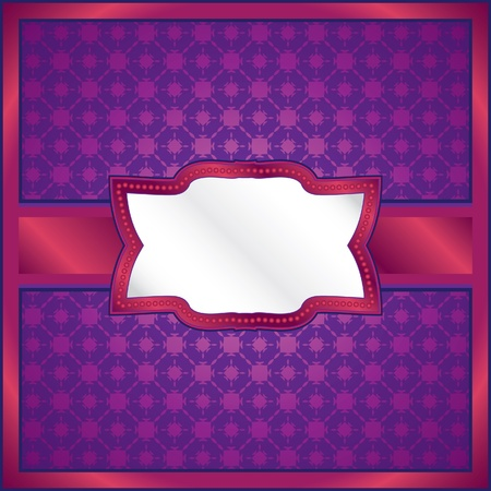 Purple lace frame Vector