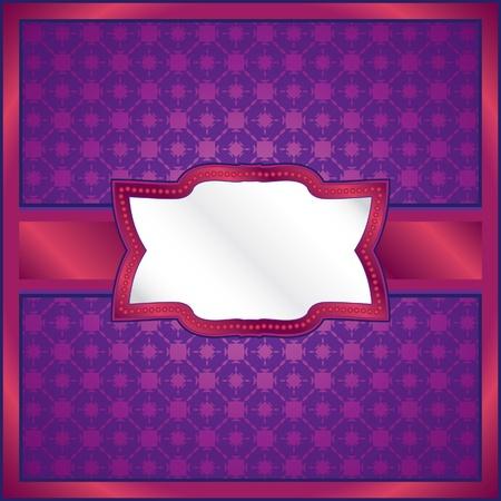 Purple lace frame Vector
