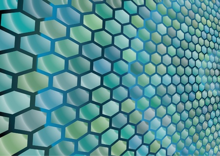 Hexagon cells background Vector