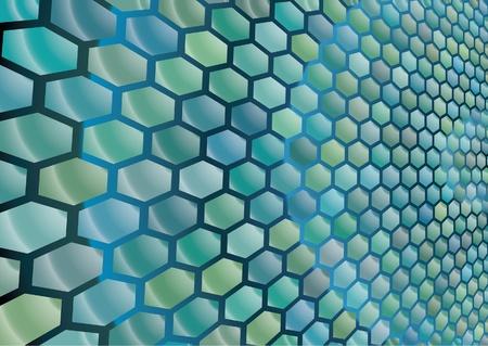 Hexagon cells background Vector
