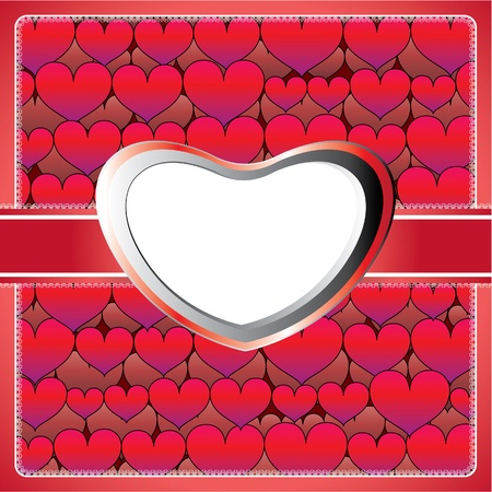 Heart lace frame Stock Vector - 10184933