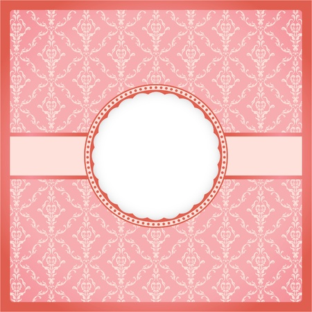 Pink ornamental frame Stock Vector - 10184930