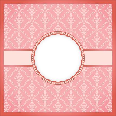 Pink ornamental frame Vector