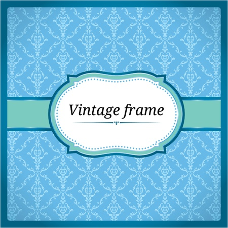 Blue ornamental frame Vector
