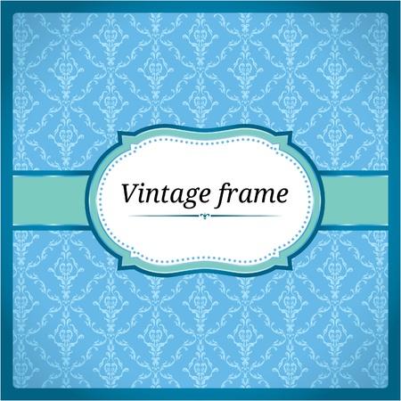 Blue ornamental frame Stock Vector - 10184931