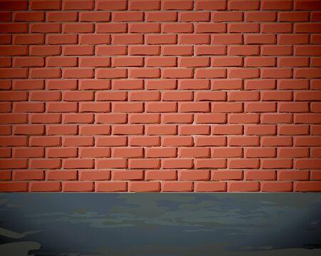 Grungy brick wall Stock Vector - 10184897