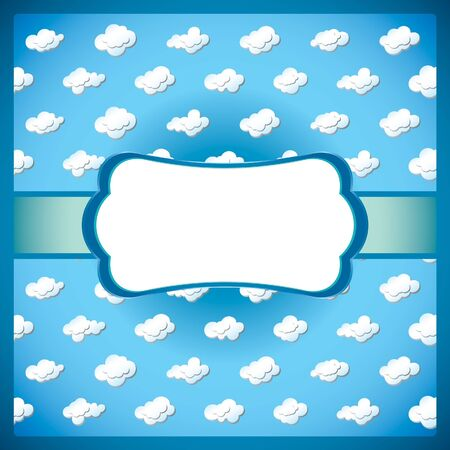Frame with clouds Vektorové ilustrace
