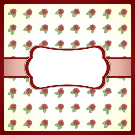 Retro frame with roses Vector
