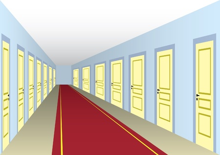 hallway: Hotel hall Illustration