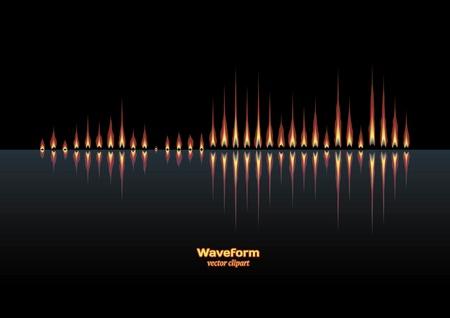 Coastal flames music waveform