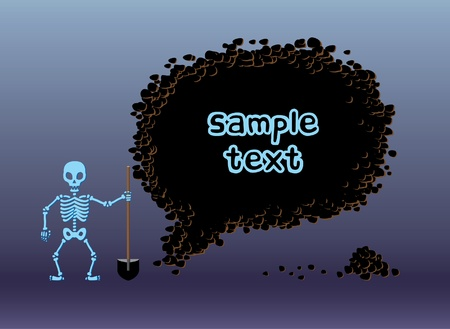 digging: Skeleton digging frame Illustration