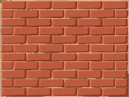 clay brick: Brick wall