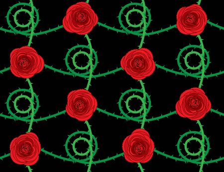 Rose seamless pattern Stock Vector - 10184951