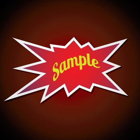 Bang shaped sticker Stock Vector - 10257570