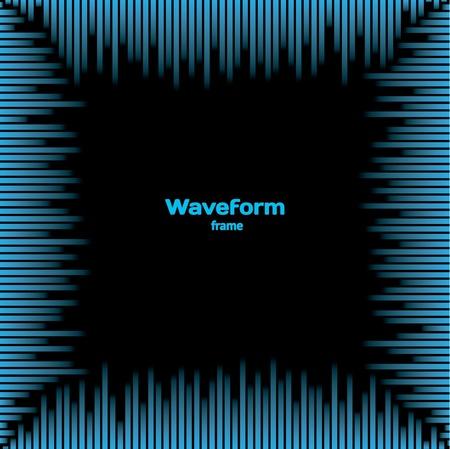 volume glow light: Waveform frame Illustration