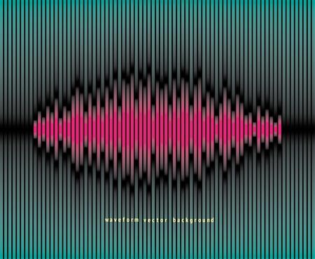 Waveform background Stock Vector - 10257601