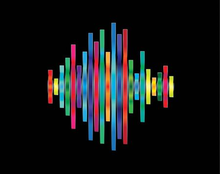 Colorful waveform Stock Vector - 10257592