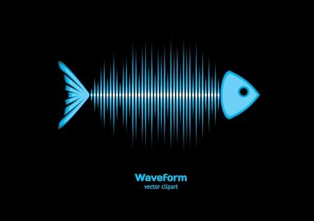 sonar: Pesce sonar Vettoriali