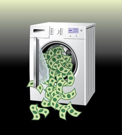 Money washing machine Vector