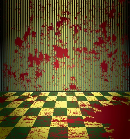 bleeding: Bloody grunge room