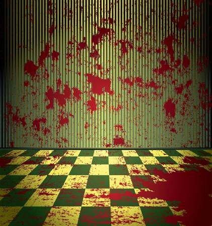 hemorragias: Sala de sangriento grunge Vectores