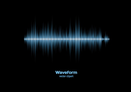 Sharp cool blue waveform Vector