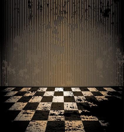 mur grunge: salle de grunge