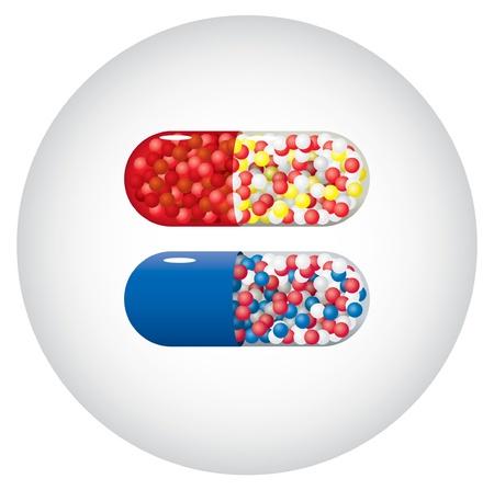 Set of capsules Stock Vector - 10261044