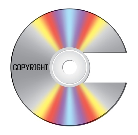 precautions: CD shaped as copyright sign