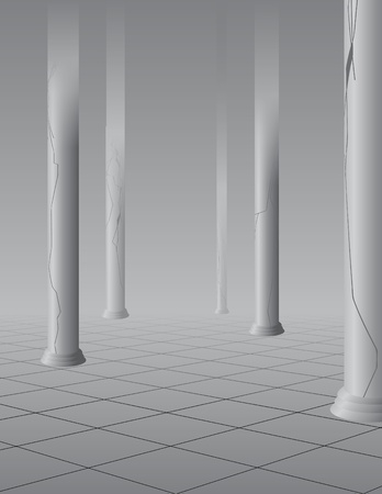 Foggy hall with columns Stock Vector - 10263009
