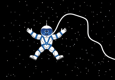 gravedad: Cosmonauta en el espacio ultraterrestre