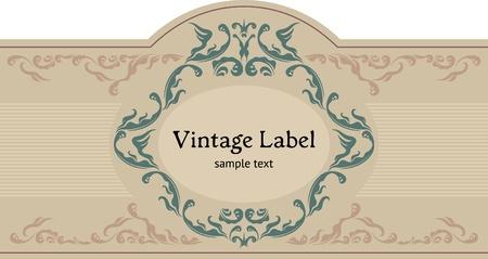 Vintage etiqueta ornamental. Fuente de Datura por Jesús Martínez Partida.