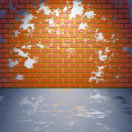 옥내의: 벽돌 그런 지 벽