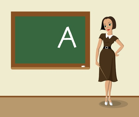 classroom teacher: Insegnante Vettoriali
