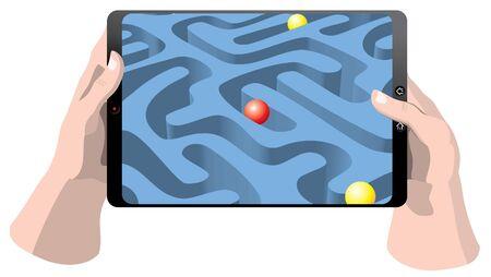 Gaming tablet computer Vector