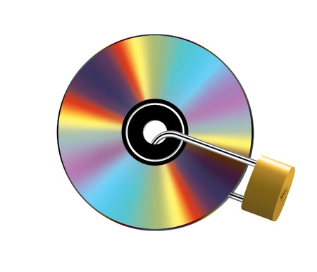 Locked CD Stock Vector - 10265787