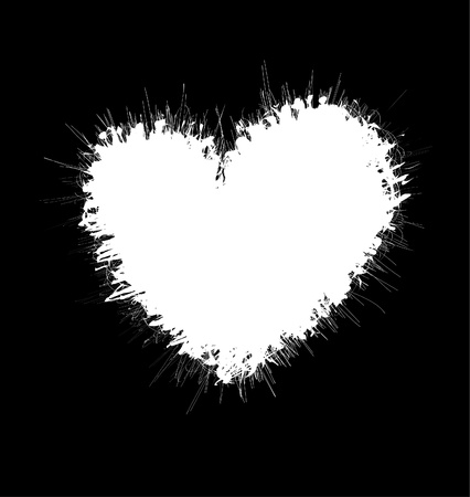 Heartshaped scribble frame Vector