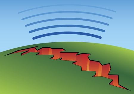 seismic: Earthquake cracks Illustration