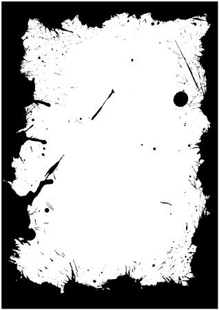 Marco de tinta aislados