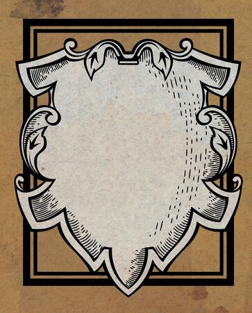 Medieval ornamental shield photo