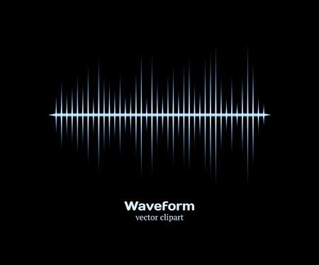 Ice cold waveform Vector