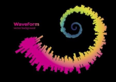 Spiral waveform Stock Vector - 10369258