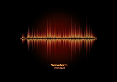 audio wave: Burning waveform Illustration