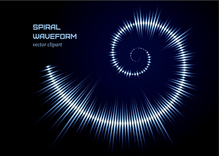 Cold spiral waveform Stock Vector - 10369260