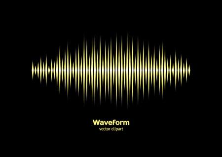 sonar: Giallo della forma d'onda Vettoriali