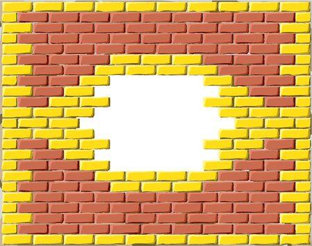 Brick frame Vector